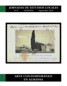PORTADA 'Arte contemporáneo en almansa' - Jornadas de Estudios Local